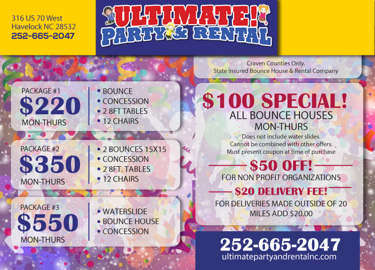 Flyer-ultimate-rental-party-specials