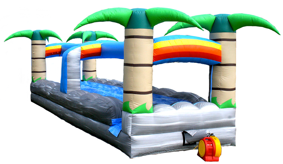 Slip and slide inflatable water feature play rental, Ultimate Party and Rental, Havelock, NC